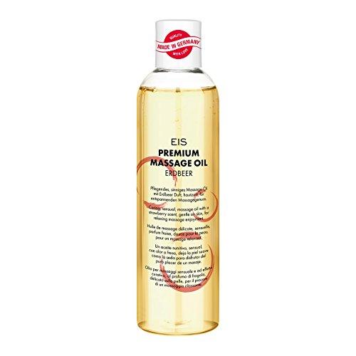 EIS, Aceite de masaje fresa prémium, Dulce aroma y masajes eróticos, 250ml