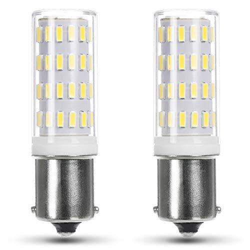 JAUHOFOGEI 12V 24V LED Lampe, BA15s S8 Sockel Birne, 2w ersetzt 1141 7506 7511 93 18w P21w Glühbirne für Landschaft Beleuchtung, Spiegelleuchten, 6000K Kaltweiß, SMD 4014, 2 Stück