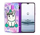 ZhuoFan Cover Ulefone Note 7 (2019), Custodia Cover Silicone Trasparente con Disegni Ultra Slim...