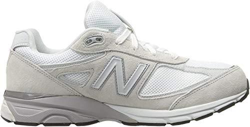 New Balance Boys' 990 V4 Running Shoe, White/Silver, 5.5 W US Toddler