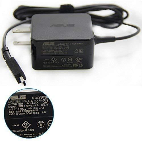 『ノートパソコン交換用 19V 1.75A 33W 充電器 適用する ASUS Eeebook X205T X205TA E202S E202SA E205S E205SA L202S L202SA、Vivobook E200H E200HA L200H L200HA 電源ACアダプター』の1枚目の画像