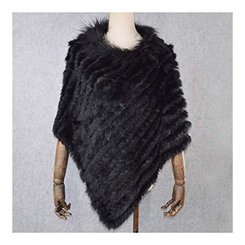 AiKoch Mantón De Las Mujeres Naturales De Punto del Poncho De La Bufanda del Otoño del Invierno Comfortable (Color : Black)