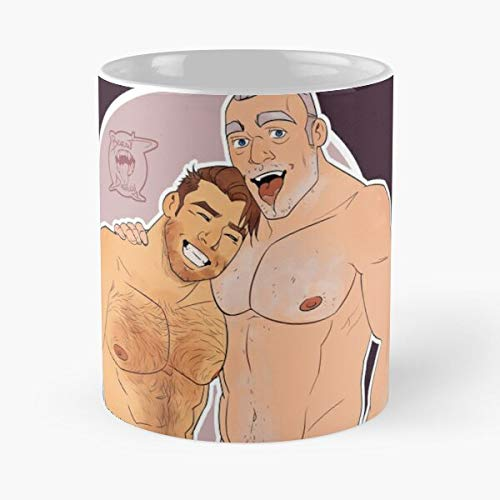 Warcraft Bara Boy Older Daddy Gay Man Men LGBT Eat Food Bite John Best - Taza de café de cerámica Blanca, 11 onzas, Onza