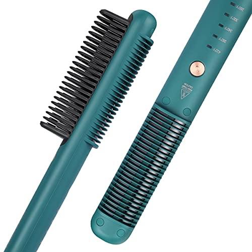 Haarglätter Bürste, Fuhaieec Glättbürste Hitzebeständigen Haarglättung Kamm, 3 Temperaturgrade, nach 30s Einsatzbereit, Keramikplatten Glättungbürste Bürste,Glättungbürste für den Heimgebrauch