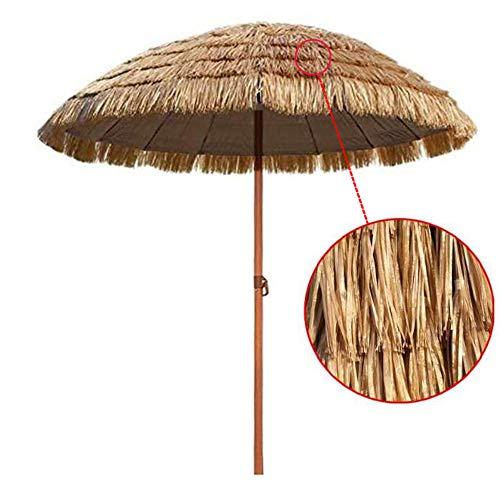 Parasol 180 cm Hawaii Rond en Paille De Raphia De Chaume Hula De Jardin Extérieur - Inclinaison