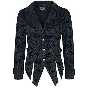 H&R London Ornaments Gothic Blazer Frauen Blazer schwarz