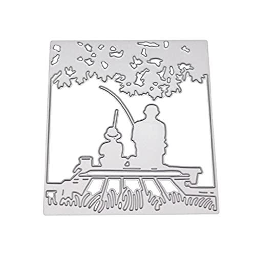 WQIY Die Cuts for Card Making Die Cuts Fishing Metal Cutting Dies Stencil DIY Scrapbooking Album Stamp Paper Card Embossing Craft Decor Dies for Card Making