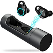 Bluetooth Kopfhörer in Ear - Bluetooth 5.0 + EDR Ohrhörer Bluetooth Kabellos IPX6 Wasserdicht Sport Ohrhörer True Wireless Earbuds mit Portable 1000mAh Ladestation für Smartphone, von Ruicer