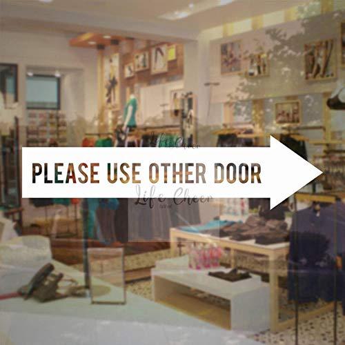 cooldeerydm Beauty Salon Voordeur Vinyl Sticker Gebruik alstublieft Andere deurbordjes Window Decals Welkom Deur Mural Commerciële Winkel Poster