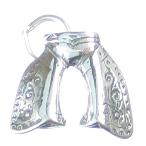 Cowboys Chaps Sterlingsilber Charm .925 x 1 Cowboy Kleider Charms cf3594