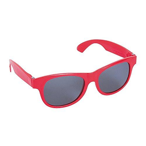 Oriental Trading 13816001 Occhiali da sole, Uomo, Rosso