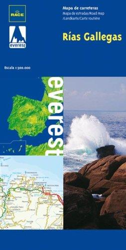 Mapa turístico de las Rías Gallegas (Mapas de Costas de España / serie azul)