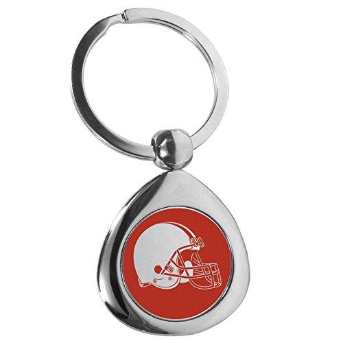 Grey One-size NFL Cleveland Browns Unisex Siskiyou SportsCarved Metal Key Chain