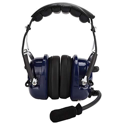 Topiky Aviation Pilot Headset, robuster Mono-Audio-Air-RA200-Kopfhörer für die allgemeine Luftfahrt mit 24 dB NRR-Gehörschutz, 3,5-mm-Anschluss