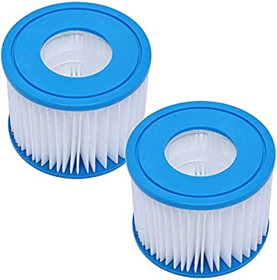 Wadoy Type VI Spa Filter Cartridge for SaluSpa, Lay-Z-Spa Inflatable Hot Tubs, Spa Filter Replacement Cartridge Type VI Compatible with Bestway, Coleman Type VI Spa Filter Cartridges (4 Packs)