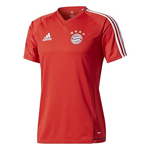 adidas FC Bayern München Trainingsshirt Herren rot / weiß, XL - 58