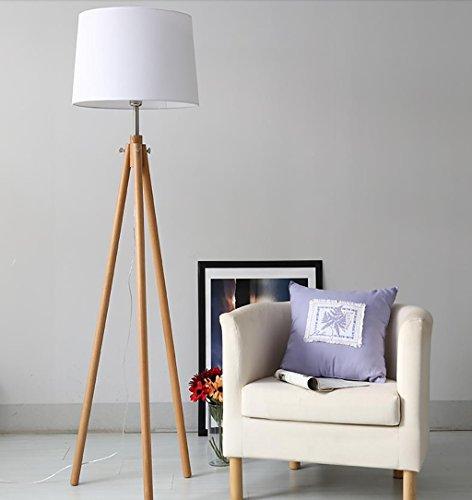 WYZ Irgendeine Heimatlampe Massivholz Stativ Stehleuchte, Wohnzimmer Schlafzimmer Nachttisch Lampenstudie Leselicht LED Vertikale Taiwan Lampen (Farbe : A -5W Bulb, größe : 163 * 44CM)