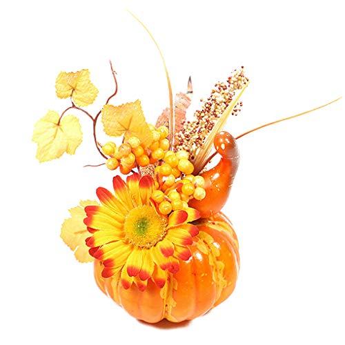 royalr Künstliche Pumpkins Tabelle Desktop Home Ornament Herbst Kürbisse Halloween Kürbisse künstliche Erntedankfest Halloween-Dekor QJ702 & Sunflower