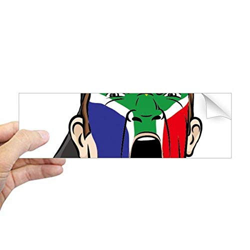 DIYthinker Zuid-Afrika Vlag Facial Make-up Cap Rechthoek Bumper Sticker Notebook Window Decal