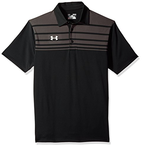 Under Armour Men's Victor Polo (Large, Black)