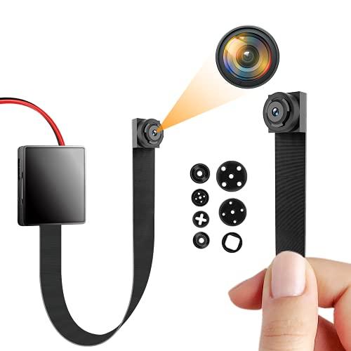 Anviker超小型スパイカメラ 1080P隠し防犯カメラ DIY監視カメラ ミニビデオカメラ 動体検知 コンパクトなデザイン 携帯便利 長時間録画 日本語取扱付き