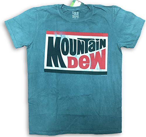 Mountain Dew Vintage Distressed Classic Logo T-Shirt Large Green