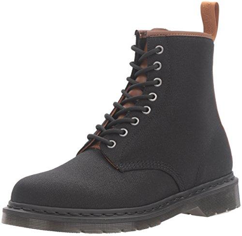 Dr.Martens Mens 1460 8 Eyelet Waxy Black Textile Boots 41 EU
