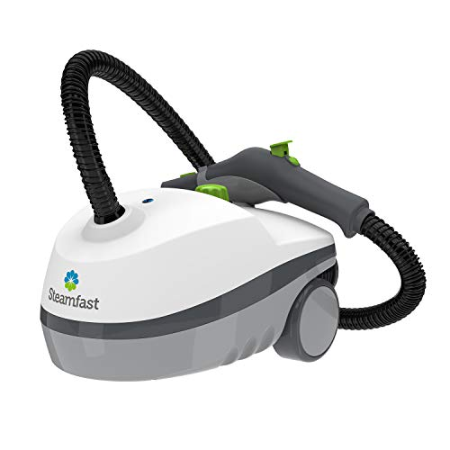 Steamfast SF-370 Canister Cleaner with 15 Accessories-All-Natural, Chemical-Free Pressurized Steam Cleaning for Most Floors, Counters, Appliances, Windows, Autos, and More, 64 inches, White