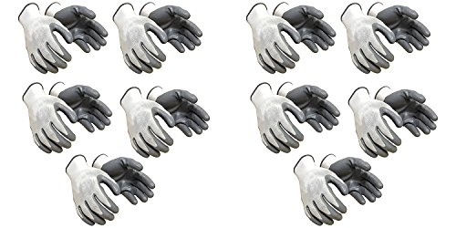 SAFEYURA Industrial Safety Nylon Anti Cut Resistant Hand Gloves, Grey -10 Pair