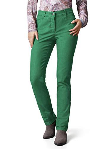 Walbusch Damen Yoga Jeans Supersoft einfarbig Grasgrün 44