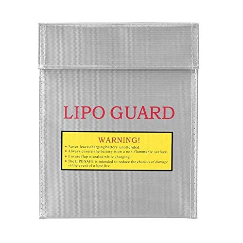 SHUGJAN Safe Bag caso de la bolsa del bolso del caso de protección de almacenamiento Lipo batería for RC FPV aviones no tripulados Avión batería a prueba de explosiones Piezas de montaje RC