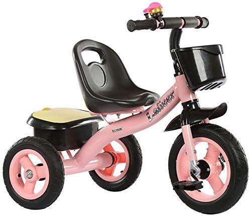Triciclo De Niños, Triciclo Bebé Bicicleta 3 De Dirección De Rueda para Los Padres Varilla De Empuje…