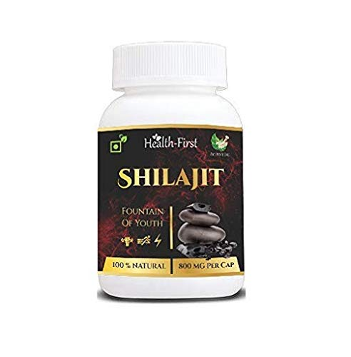 Health first Shilajit Extracts 800 Mg 60 Capsules 100% Natural & Pure shilajit for Men (60 Capsules)