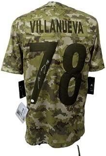 Alejandro Villanueva Autographed Signed Steelers Camo Salute To Service Jersey JSA 143017