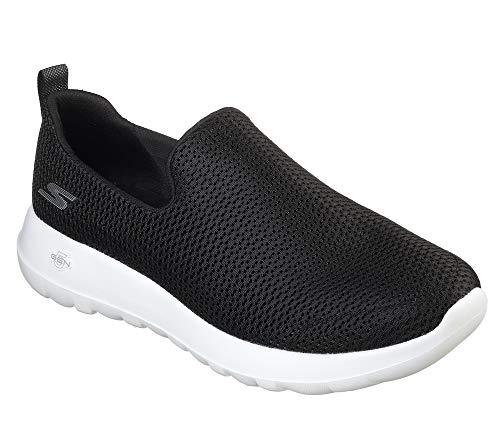Skechers mens Go Walk Max-Athletic Air Mesh Slip on Walking Shoe,Black/White,11.5 M US