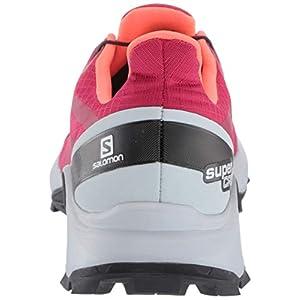 Salomon Women's Supercross Trail Running Shoes, Cerise./Pearl Blue/Fiery Coral, 8