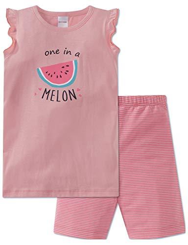 Schiesser Mädchen Md Anzug kurz Zweiteiliger Schlafanzug, Gelb (Apricot 603), 98 (Herstellergröße: 098)