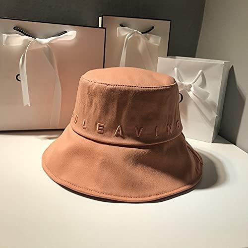 Sombrero de Cubo para Mujer, Verano, Viajes al Aire Libre, Pesca, Sombreros para el Sol, Letra de algodn, Sombrero de Pescador, Gorro de Lavabo-Red-56-58cm