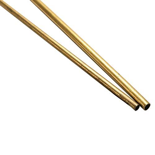 WNJ-TOOL, 2 stücke Messing Rohr Messing Rohr DIY Messer Griff Nietdurchmesser 2/3/4 / 5mm (Größe : 4mm)