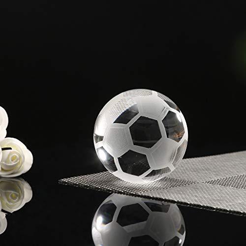 Flamedre|_Wohnen Glas Fußball Hochzeit Dekor Briefbeschwerer Figur Geschenk basteln Wohnkultur