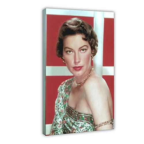 Vintage Beauty Poster Ava Lavinia Gardner 16 Leinwand Poster Wandkunst Dekor Druck Bild Gemälde für Wohnzimmer Schlafzimmer Dekoration Rahmen: 50 × 75 cm