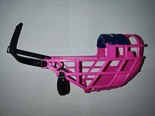 AMATHINGS Maulkorb Model Super Kennel Soft mit wattiertem Nasenstück Trinken Immer Möglich Ideal Für Freilauf, Hundewiese, Kennel, Zwinger, Rennen (Pink)