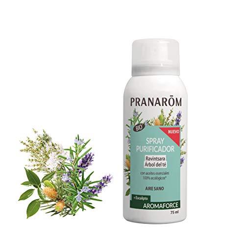Pranarom - Aromaforce - Spray Purificador Ravintsara Eucalipto Bio, color Ravintsara, 75 ml