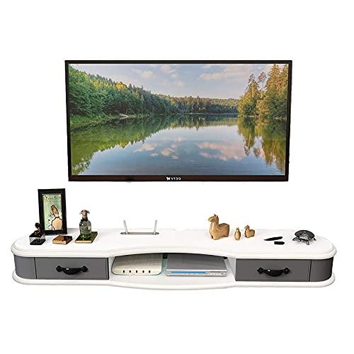 Gabinete de TV, TV baja, estantes flotantes, consola de TV flotante, gabinete de TV de 47.2 / 51.1 / 55.1 / 59 / 62.9 pulgadas, soporte de estante de montaje en pared para accesorios de TV, reproducto