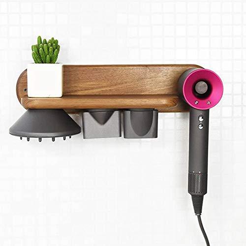 Fiaoen - Soporte para secador de pelo para Dyson, color nogal