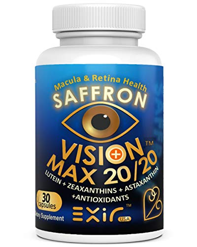 Vision Max 20/20 Dietary Supplement Support Healthy Eye, Heart and Immune - 60 Capsules