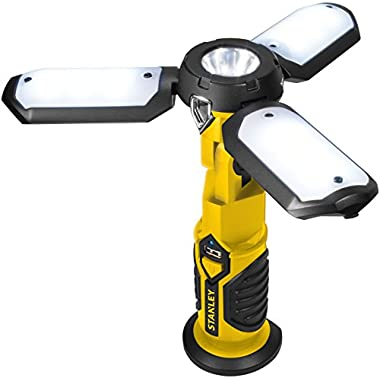 STANLEY SAT3S Rechargeable 400 Lumen LED Satellite Work Light with USB Charger