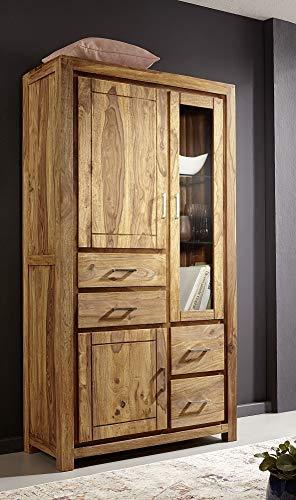 Main Möbel Vitrine 100x190cm Austin Sheesham massiv