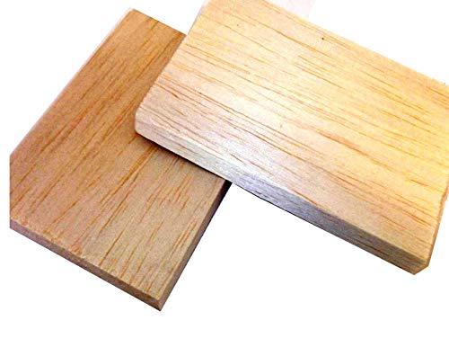 375mm x 100mm x 25mm in legno di balsa Block Model making Architect x 2