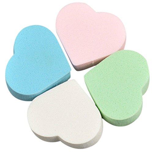 8 pcs Forme de cœur Maquillage éponge blender Poudre Femme Beauté Fond de teint Puff Couleur aléatoire